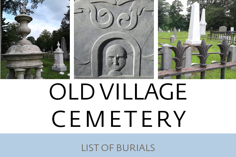 Old Village Cemetery Burial List Cover